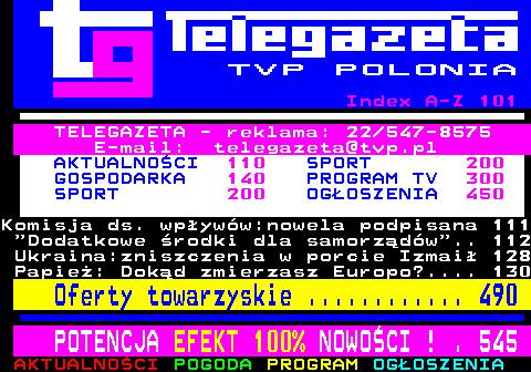 Telegazeta TVP Polonia – strona 100, podstrona 2 z 6