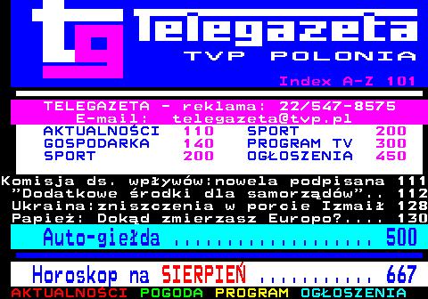 Telegazeta TVP Polonia – strona 100, podstrona 4 z 6