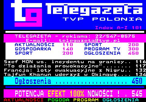 Telegazeta TVP Polonia – strona 100, podstrona 5 z 6