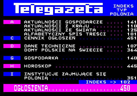 Telegazeta TVP Polonia – strona 101, podstrona 1 z 1