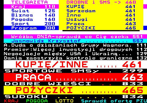 Telegazeta TVP 1 – strona 100, podstrona 9 z 16