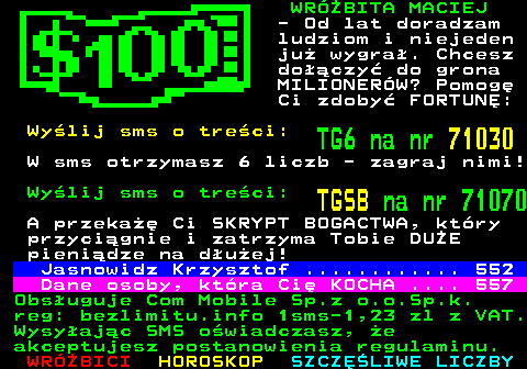 Telegazeta TVP 1 – strona 550, podstrona 1 z 1