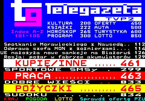 Telegazeta TVP 2 – strona 100, podstrona 9 z 16