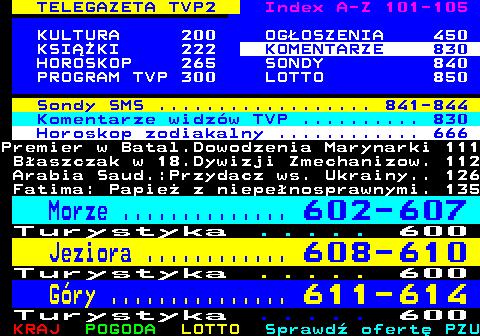 Telegazeta TVP 2 – strona 100, podstrona 14 z 16